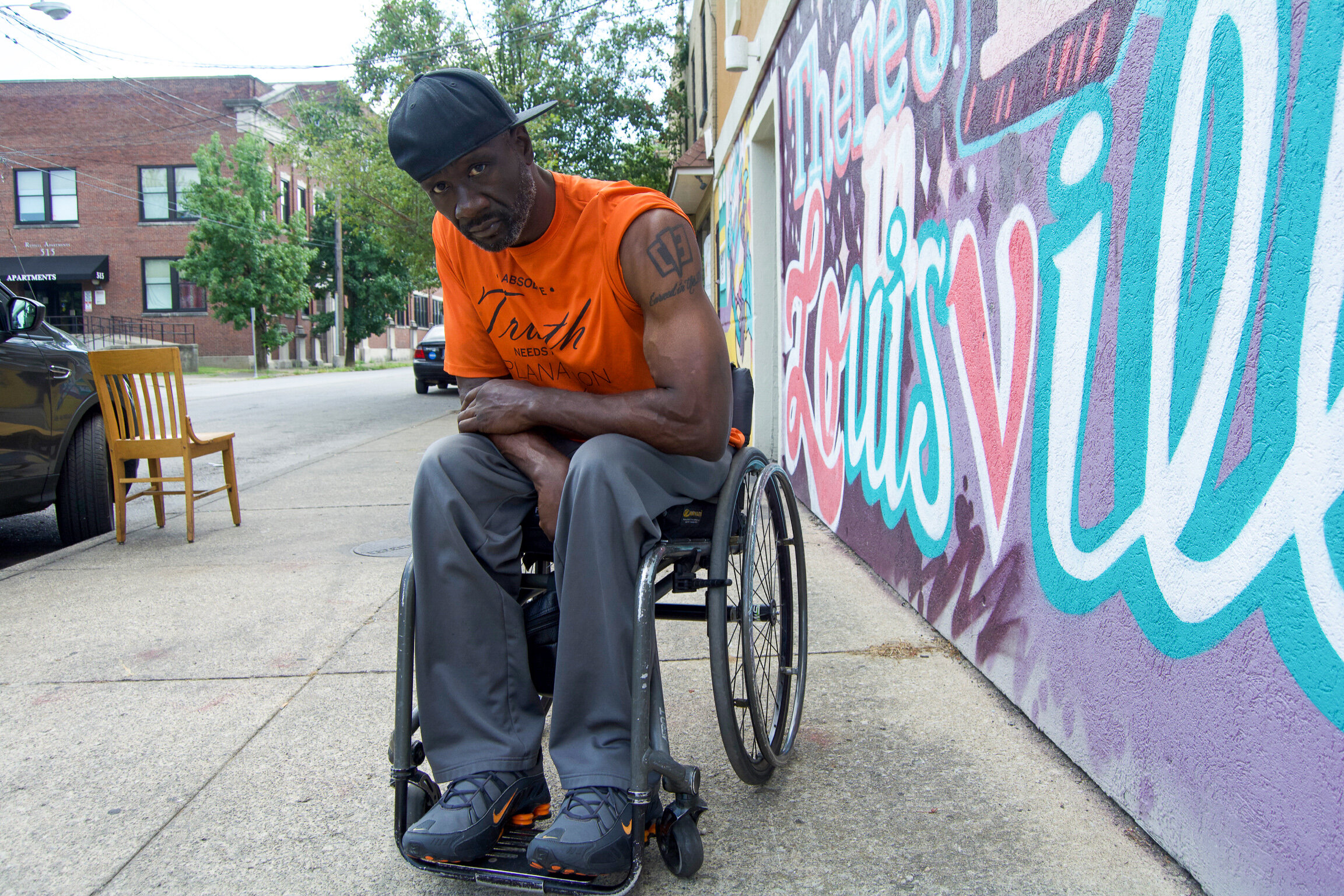 """""""We're in a good place, man. Personally, I got hit when I was 18 years old, in 1992, a gunshot. I used to play football for Louisville. My journey has always been about well-being, you know, trying to heal the injuries and mental scars. I was just trying to find my way to function in life. My whole thing has been with this physical challenge, that I've been faced with. That's with trying to remove myself from it, whether that be getting out of the wheelchair or making it as comfortable for me to maneuver as possible. With that being said, it starts with what I put in my body. I went on a spiritual journey because I wasn't spiritually grounded.  We grew up on the block, in the neighborhood, like everyone else. We were barbecuing every day and everyone would come over to the house. We would grill big ribs and chicken all the time. My pops died sick. My moms died sick. My oldest brother died sick and I got another brother that's about 500-600 pounds. I've been conscious and I watch it. I also look out for my family and friends.  One of the guys that was doing some artwork for me turned me on to Dr. Sebi. I looked dude up and told myself that I had to go see him before they kill him. I was turned on to him in 2014. Then me and my wife went to go see him in 2015. We stayed a month in Honduras because that's where his village is. He wasn't there because he was healing someone in Africa, who was a politician, by bringing him back to health.  We were with Dr. Sebi's family for about three weeks and they told me that he wanted to meet me. The last week we were there, we were wondering where Dr. Sebi was because we still didn't get to meet him. We were told that he got locked up. With that being said, the information that Dr. Sebi gave me was so valuable that if you follow it, it's flawless. Most people just don't have the discipline. A lot of people are kickin' it so much that they aren't interested in planting a garden and eating out of it.  I wanna make it as simple as pos"""