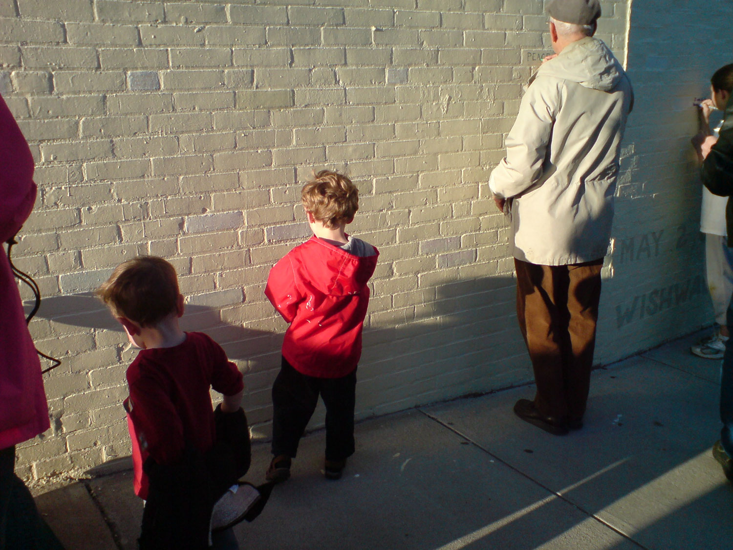 Cambridge/Somerville Community Members Making the Wish Wall Mural