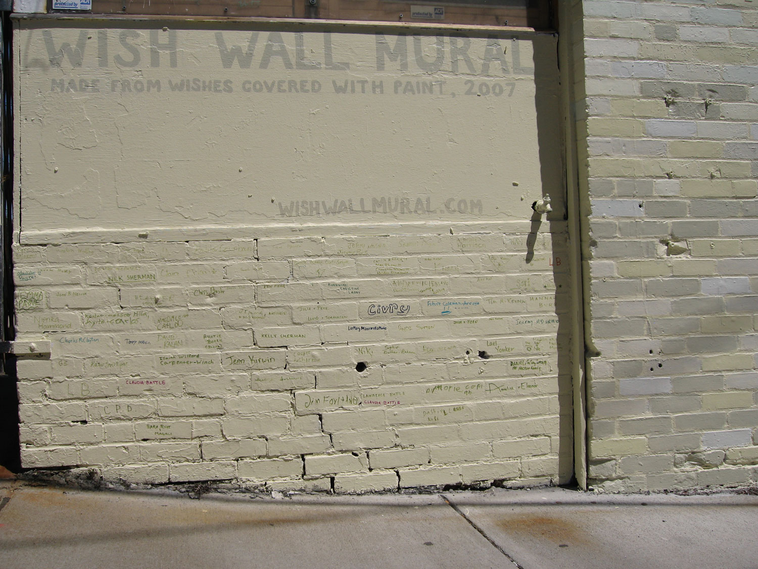 (detail) Wish Wall Mural
