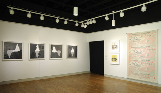 Installation view of exhibition and the series  Brides