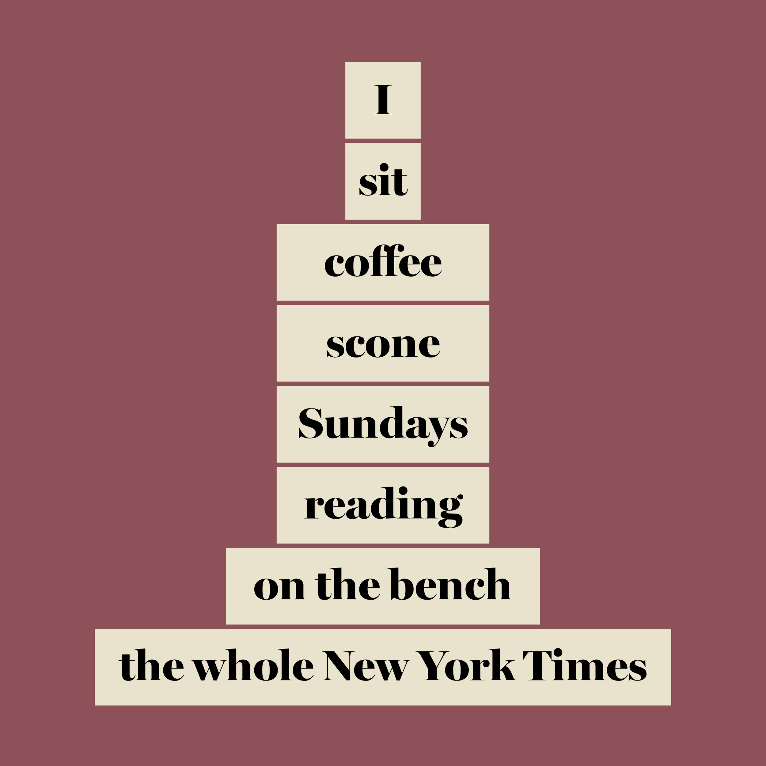 We Were Here, I sit coffee
