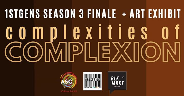 🗣📆Mark your calendar NOW for our finale: SATURDAY, NOVEMBER 16 from 6-8PM! •  We are so excited to partner with local Charlotte artists on an exhibit about colorism and culture at the Knight Gallery at Spirit Square!🎨 •  PLUS there will be an international food sale, music, and interactive segments like never before! •  Click the link in our bio to RSVP + receive ticket deets✨