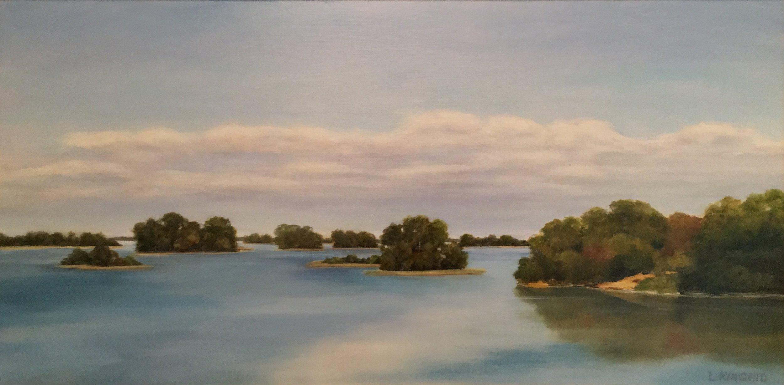 Islands of Cedar Key; oil on canvas; 12 x 24;   SOLD