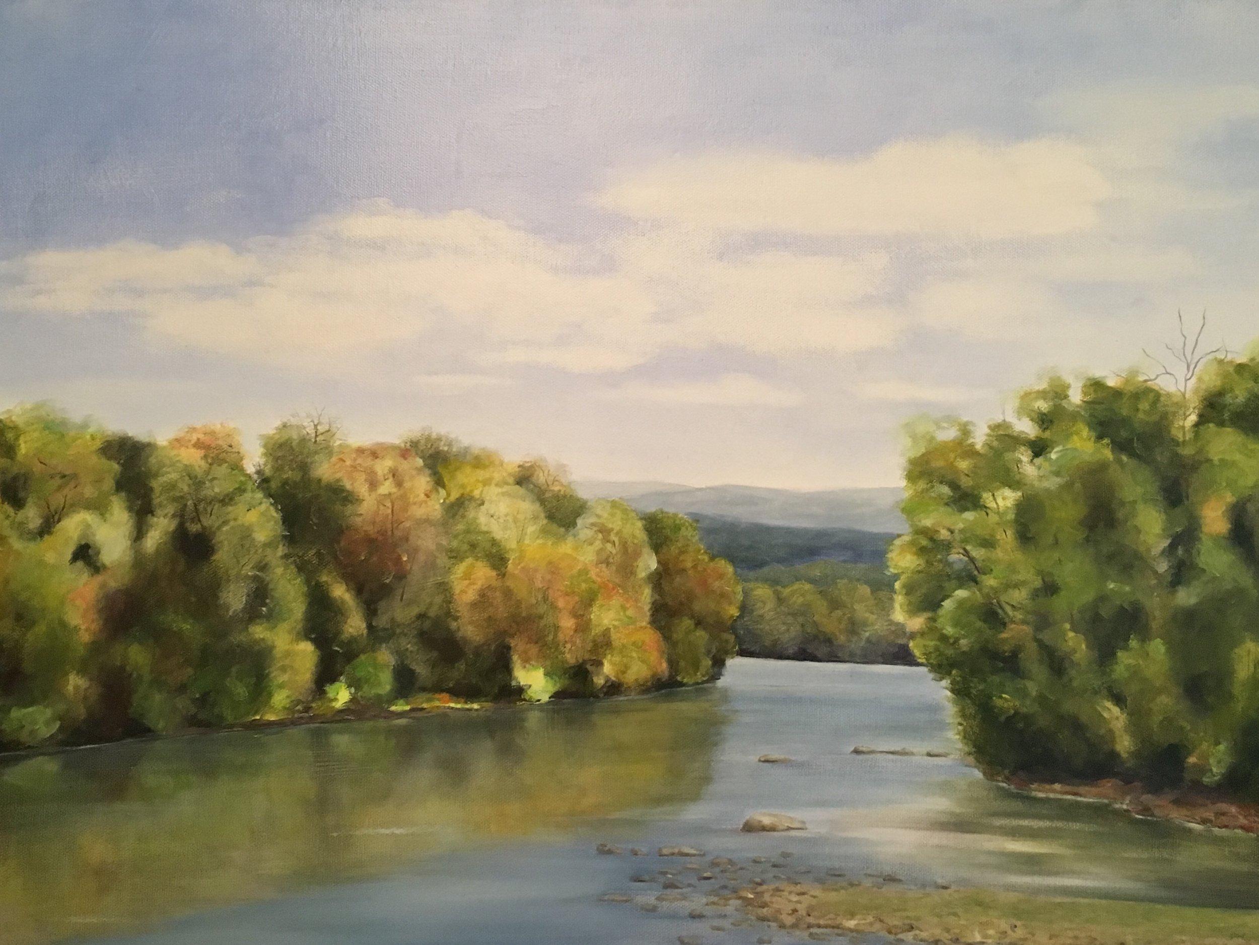 Shenandoah at the Low Bridge; oil on canvas; 18 x 24