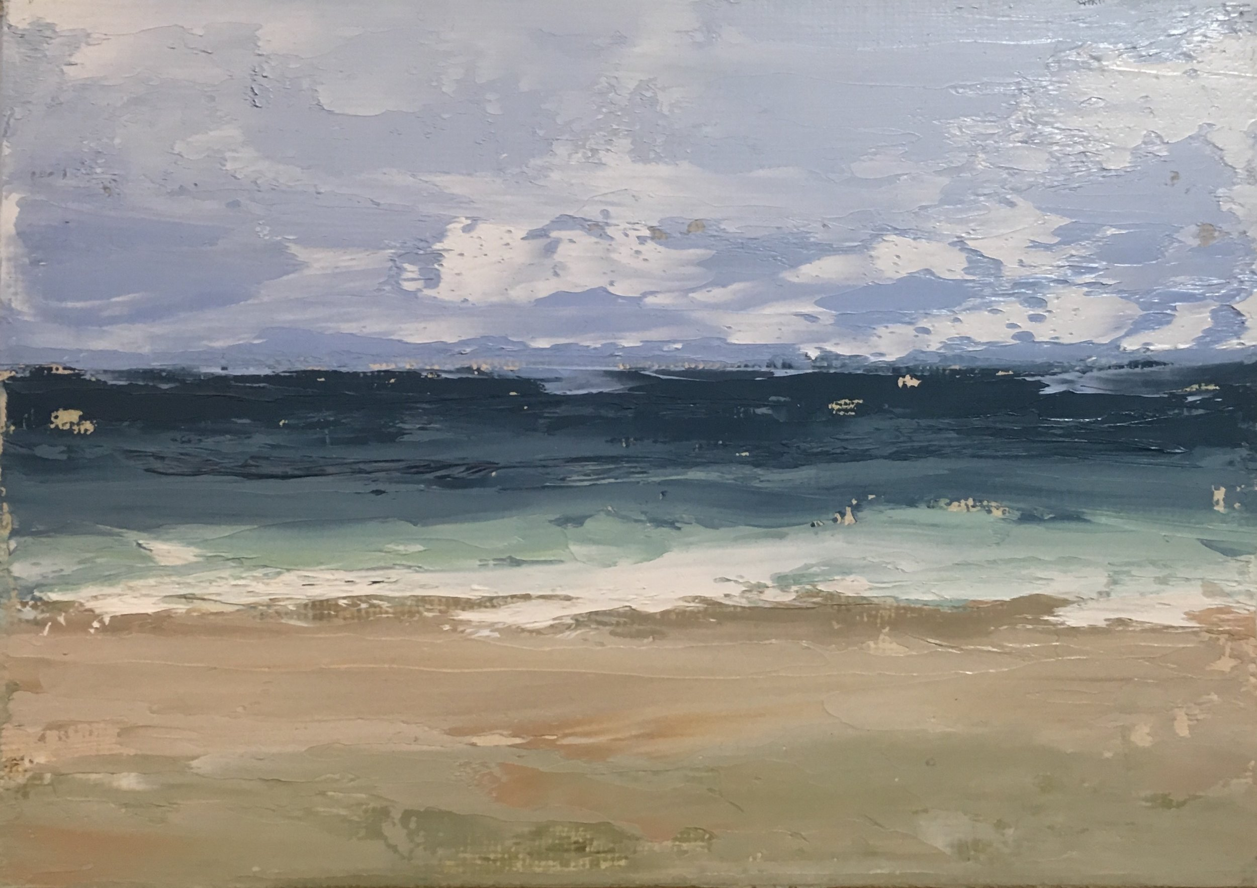 Seascape 4; oil on canvas; 5 x 7