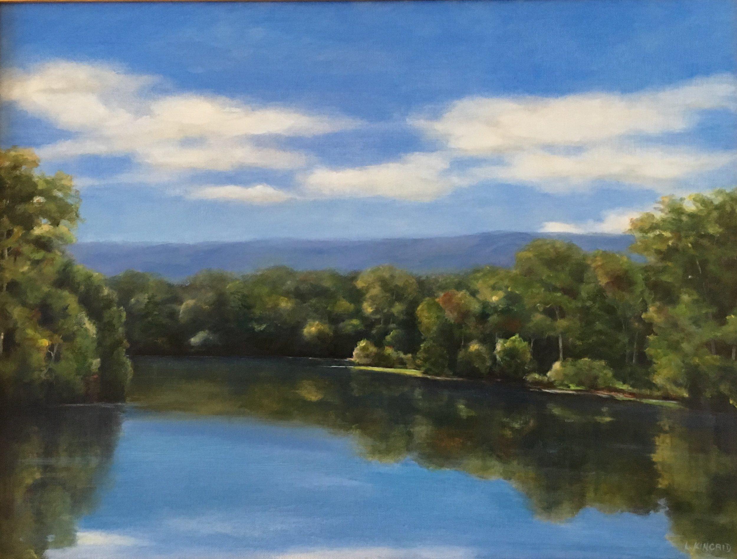 Shenandoah Down River; oil on canvas; 18 x 24; $950