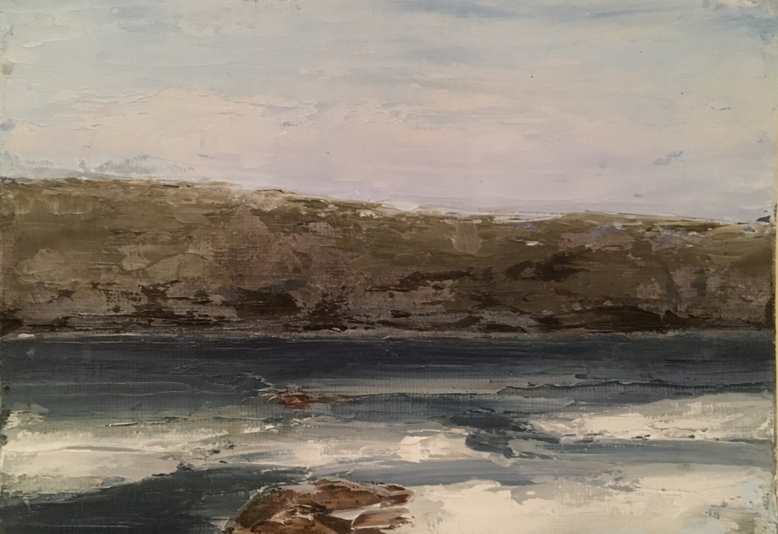 Ice on the Shenandoah; oil on canvas; 5 x 7; $270