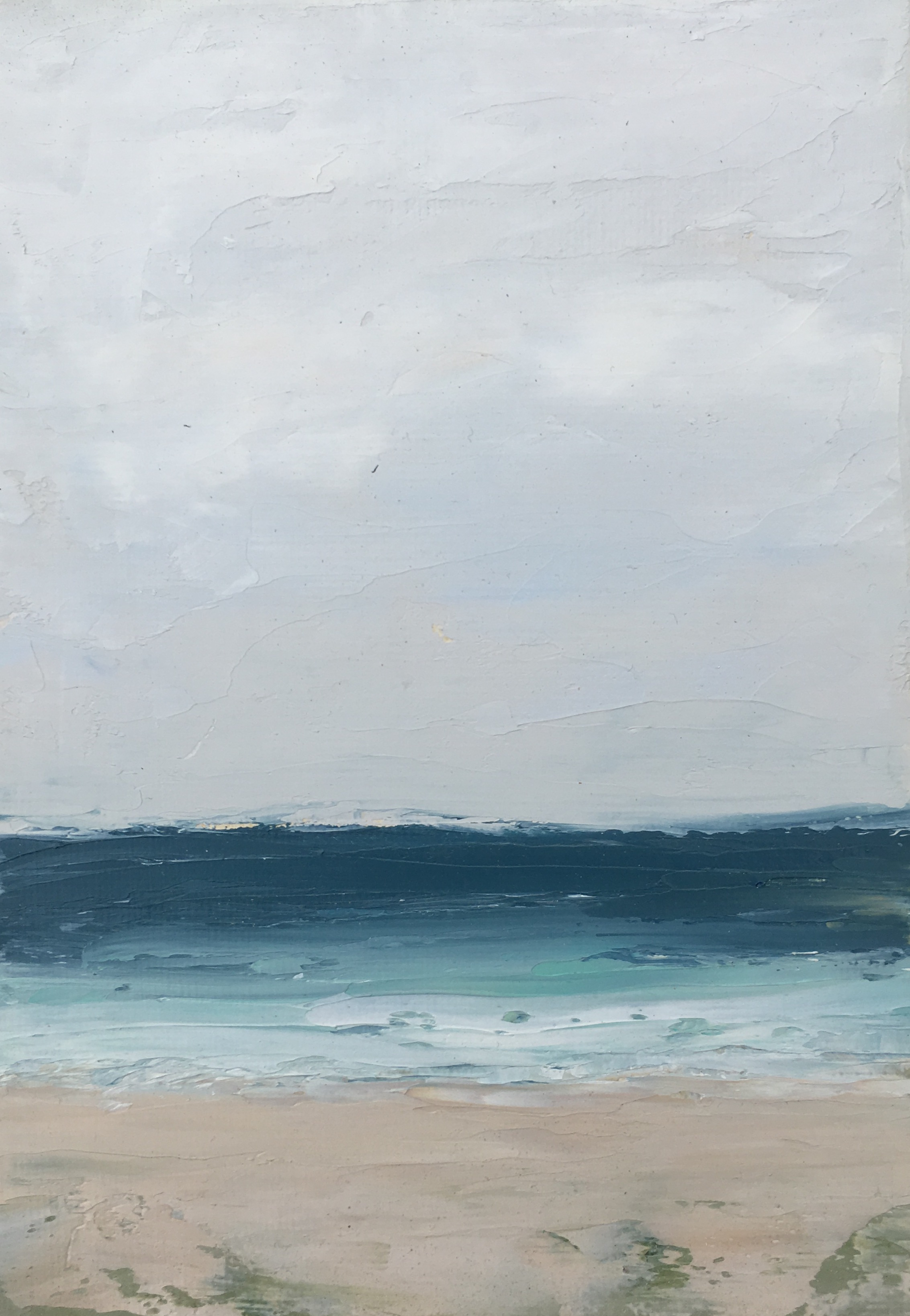 Seascape 9; oil on canvas; 5 x 7