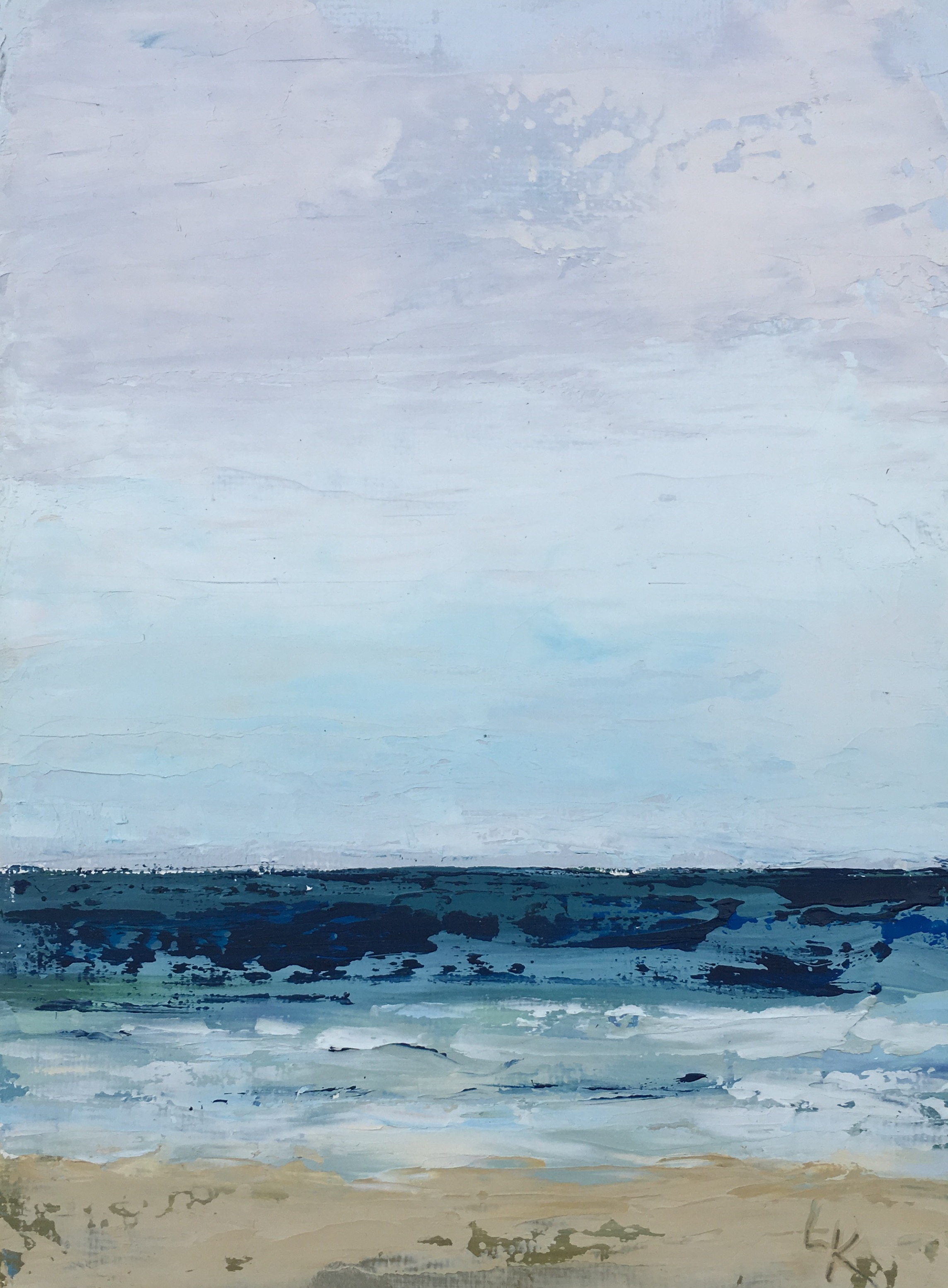 Seascape 11; oil on canvas; 5 x 7