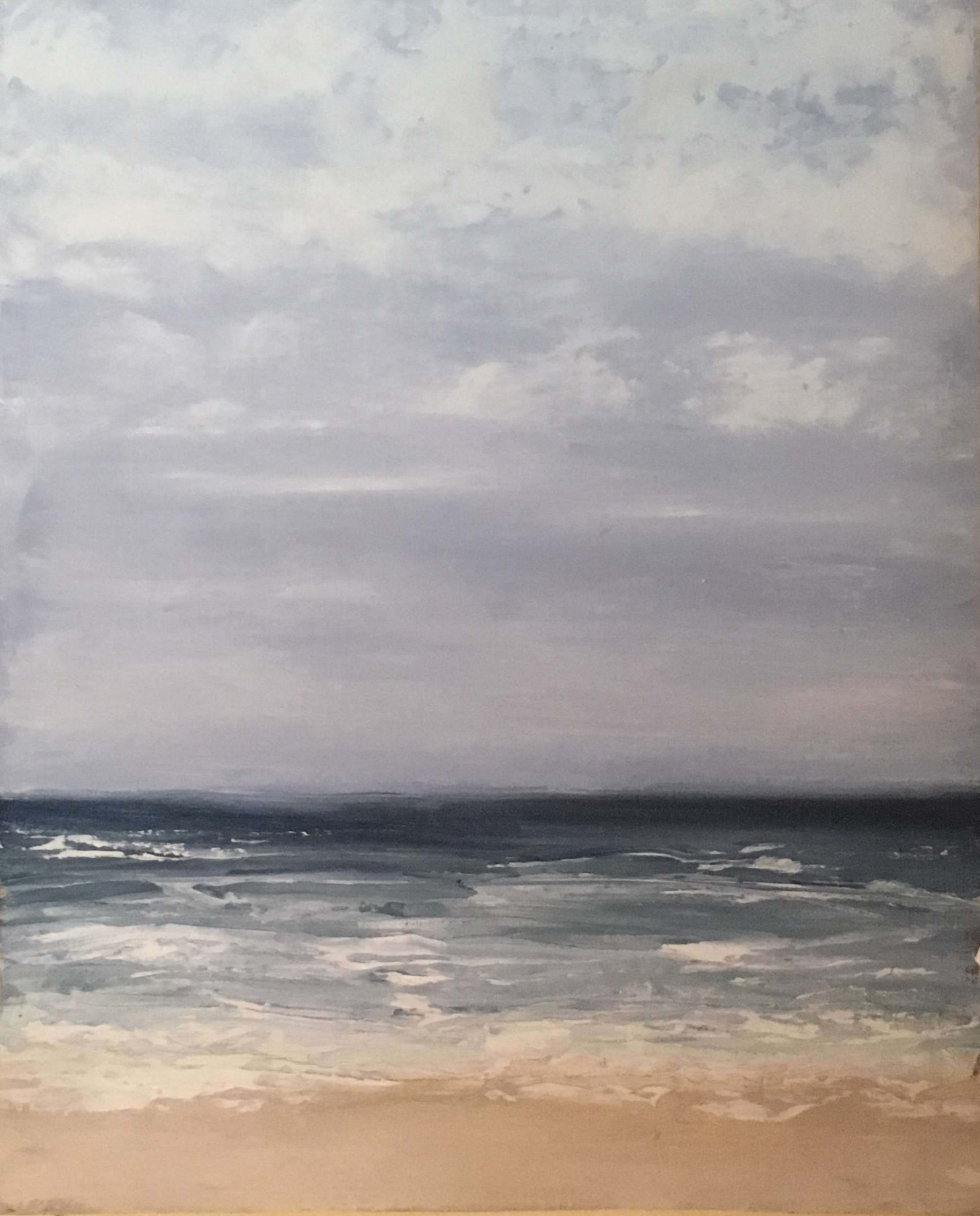 Seascape 3; oil on canvas; 10 x 8