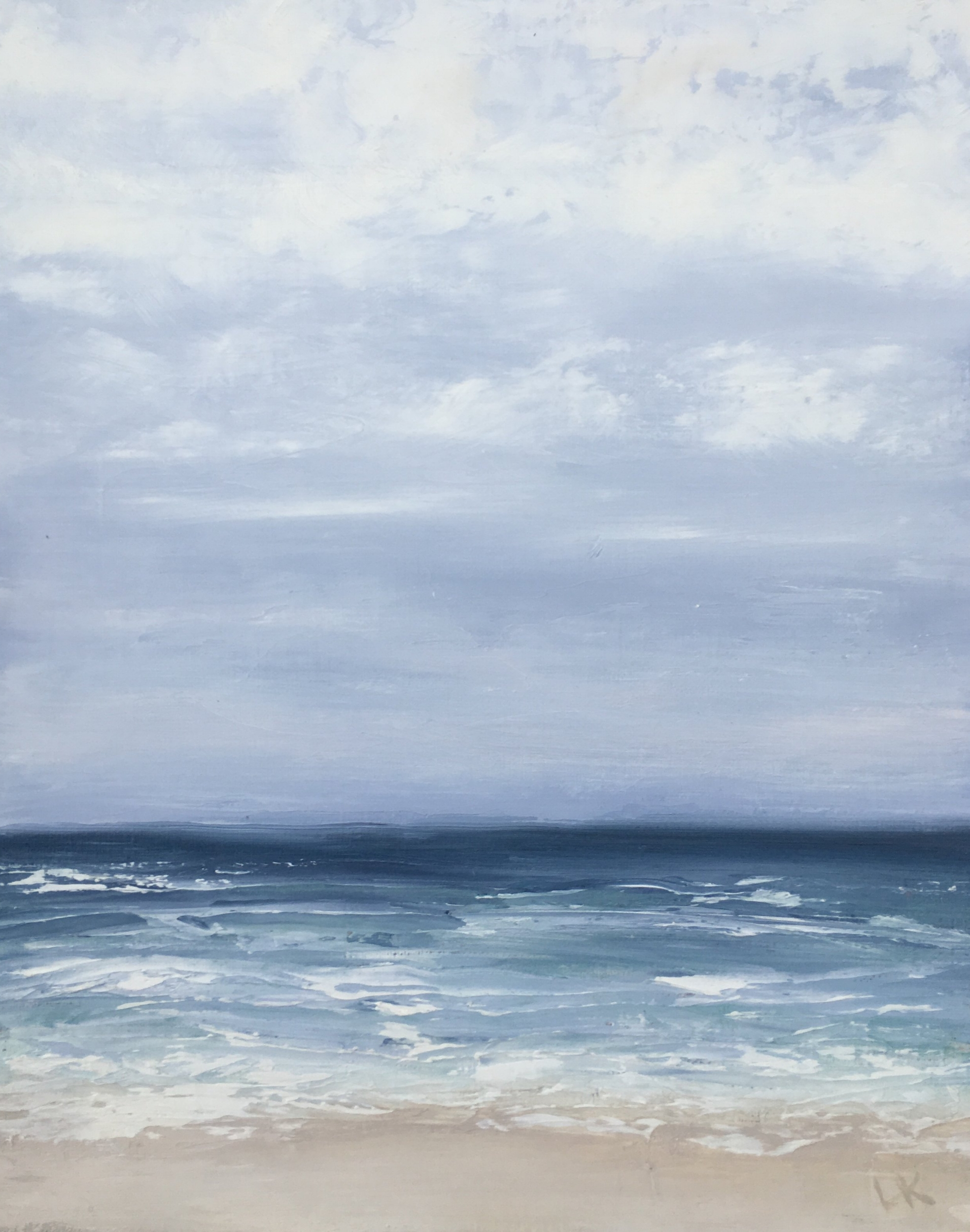 Seascape 7; oil on canvas; 12 x 6