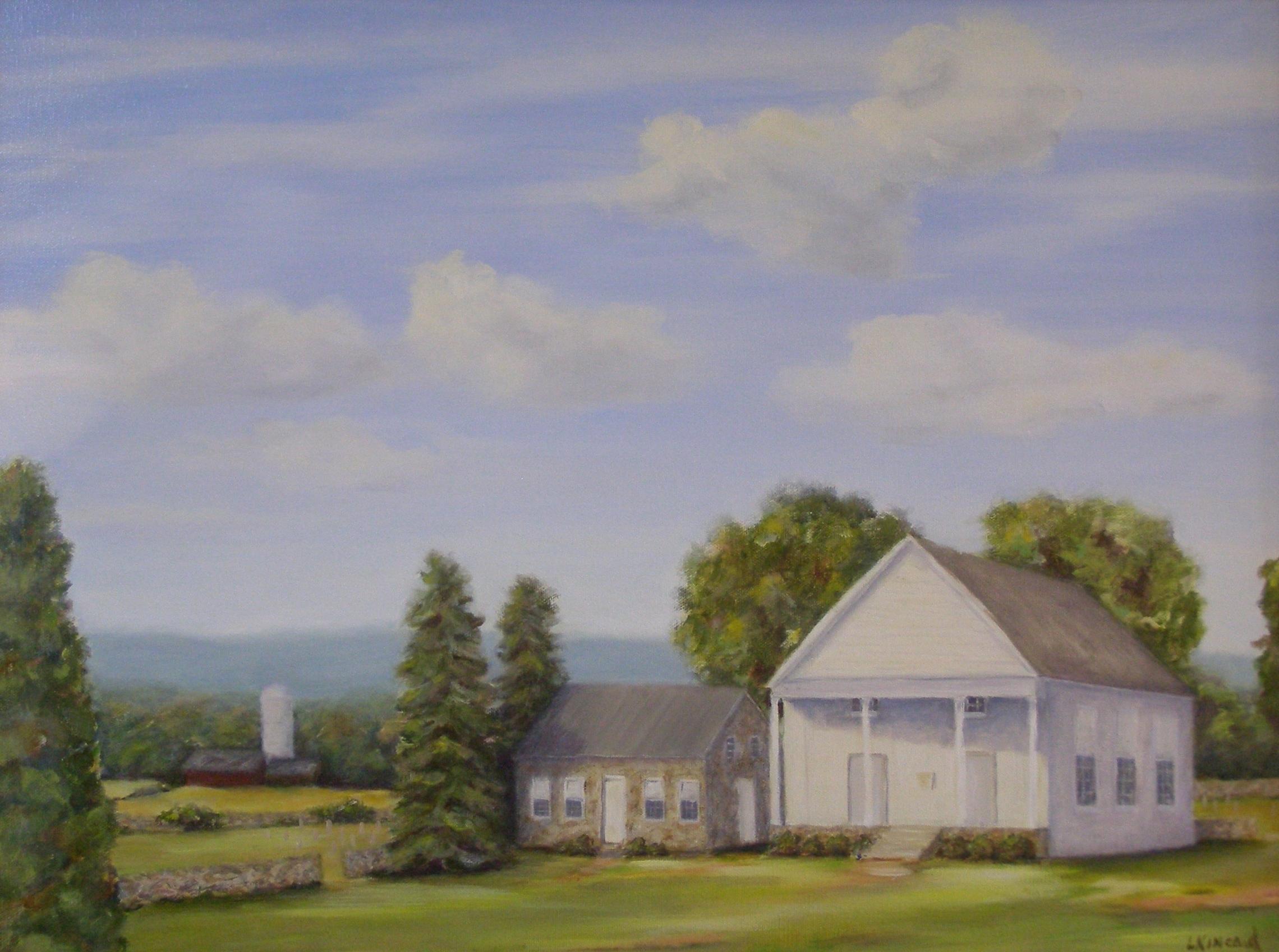 Ebenezer Church; oil on canvas; 18 x 24;   NFS