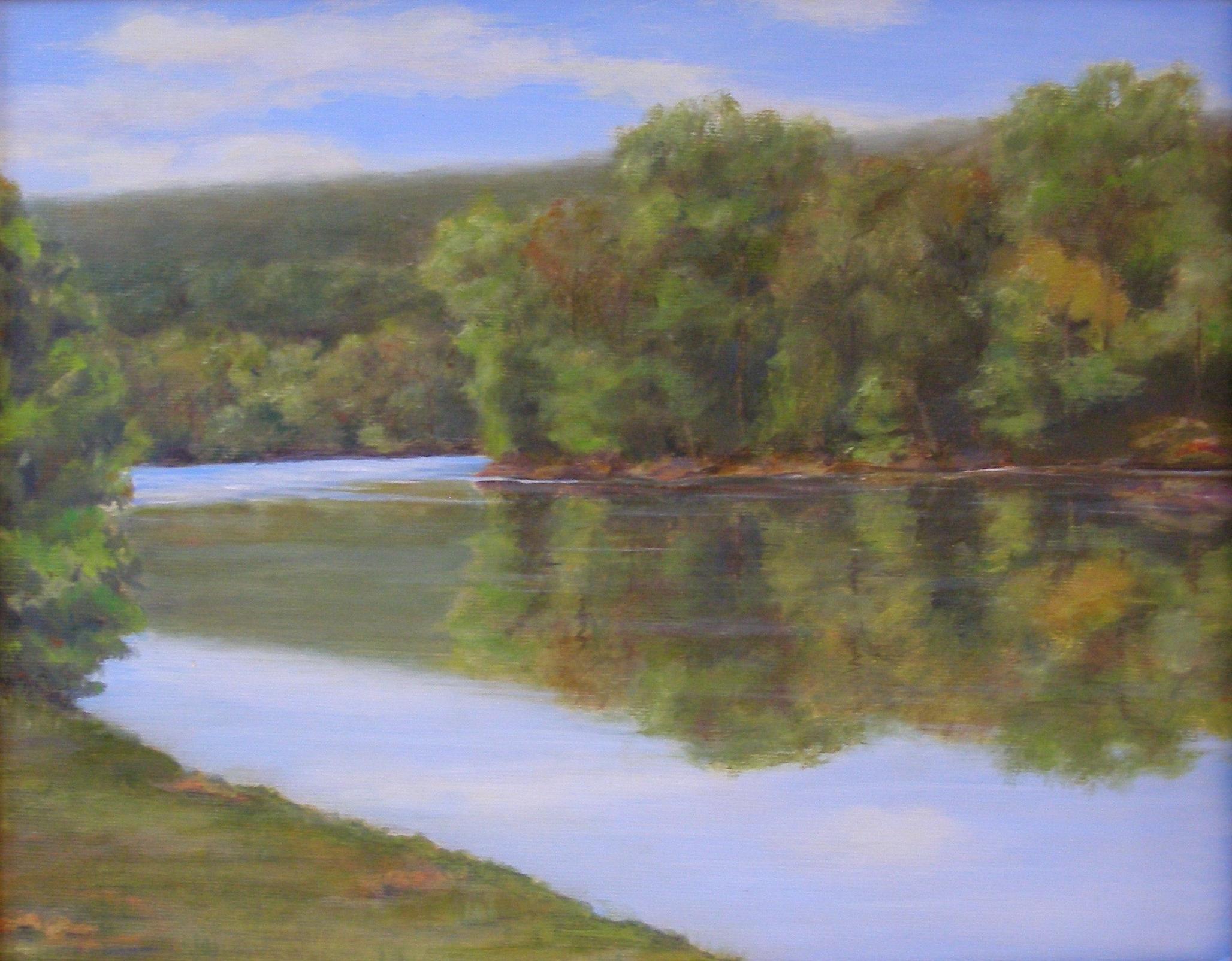 Shenandoah River; oil on canvas; 16 X 20;   SOLD
