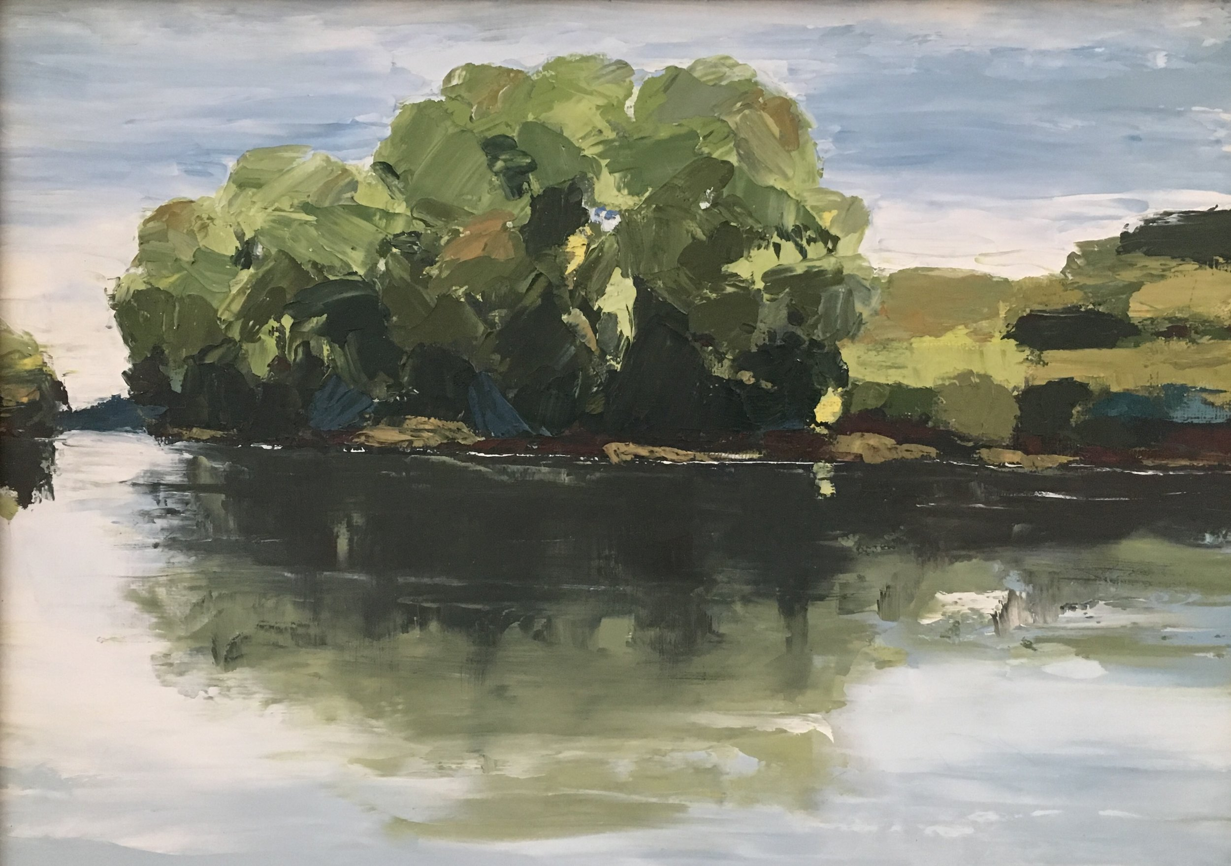 Reflections, Shenandoah River; oil on canvas; 11 x 14