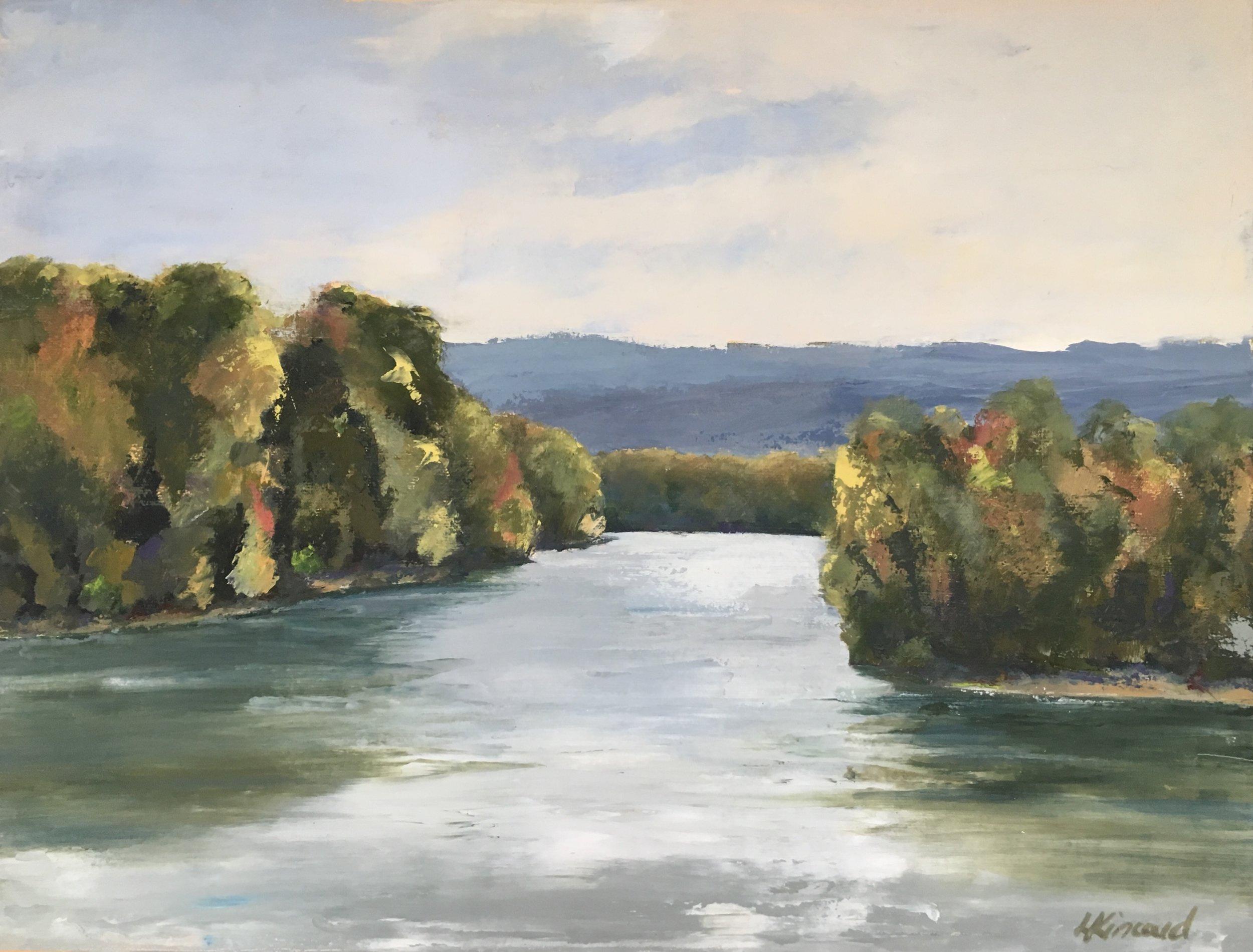 Morgan's Ford, Shenandoah River; oil on canvas; 12 x 16