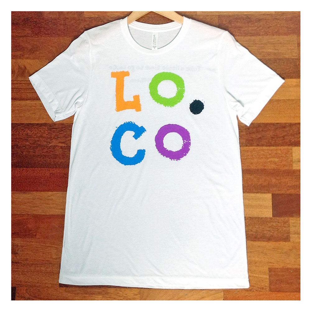 Lo.Co Initials Unisex White T-shirt - Small - 38