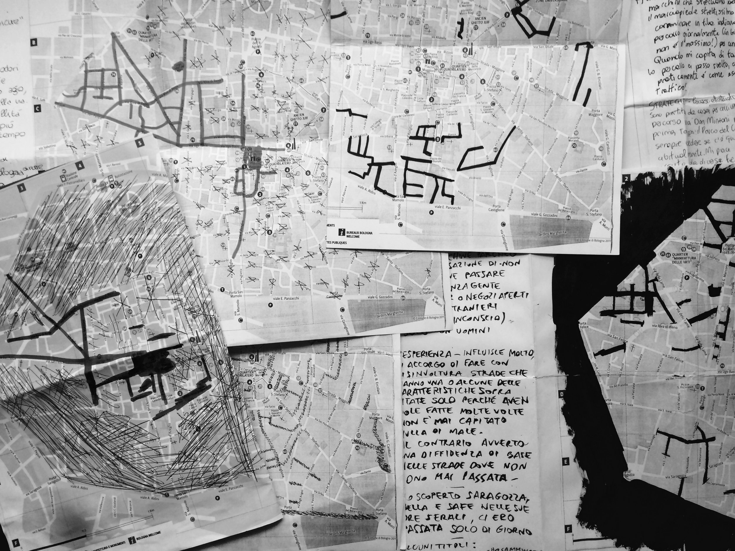 Some of the participants Maps, resulting from their walks.
