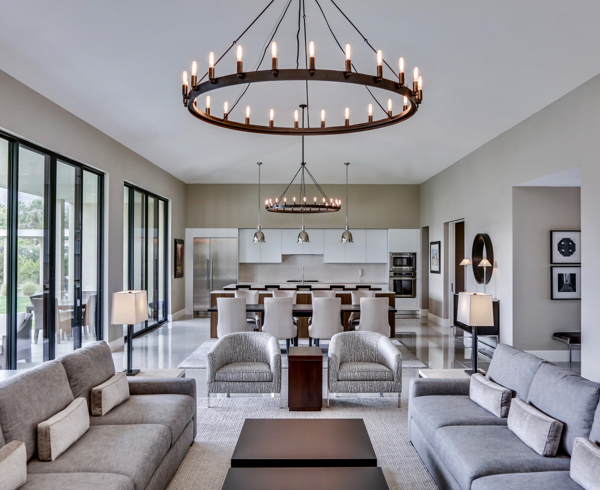 Palm Springs Contemporary Great Room Design