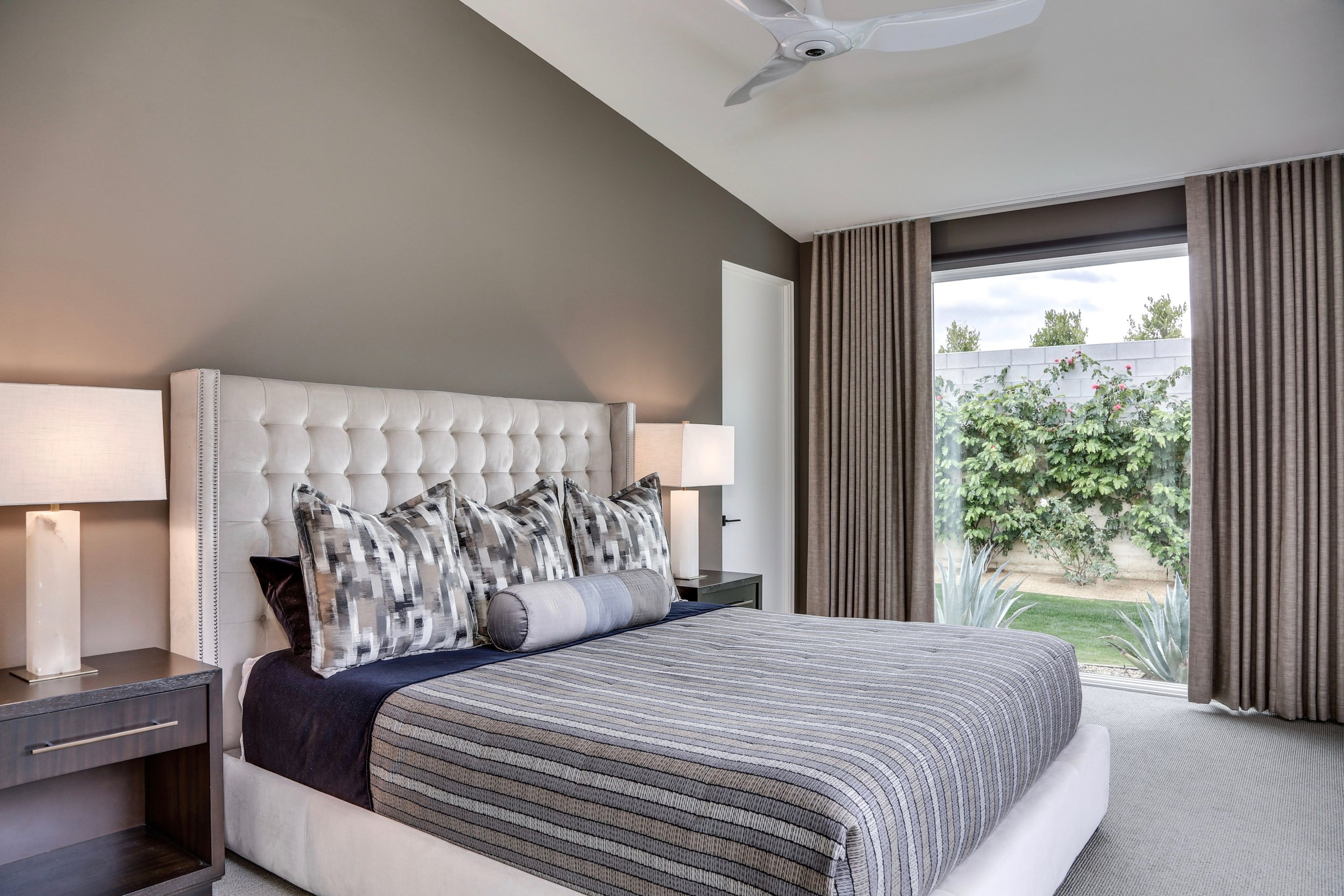 Palm Springs Contemporary Master Bedroom