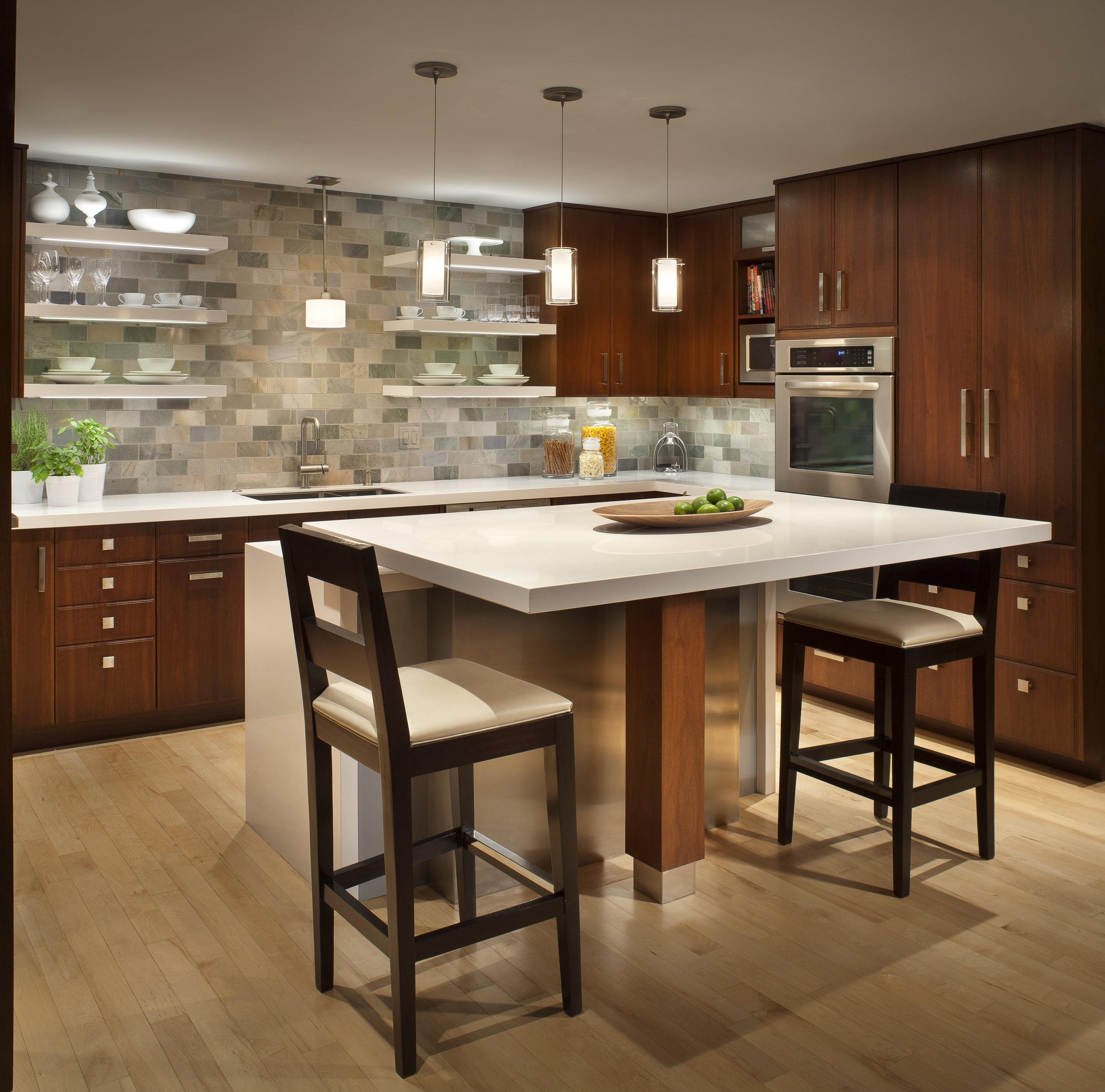 mountain modern kitchen after
