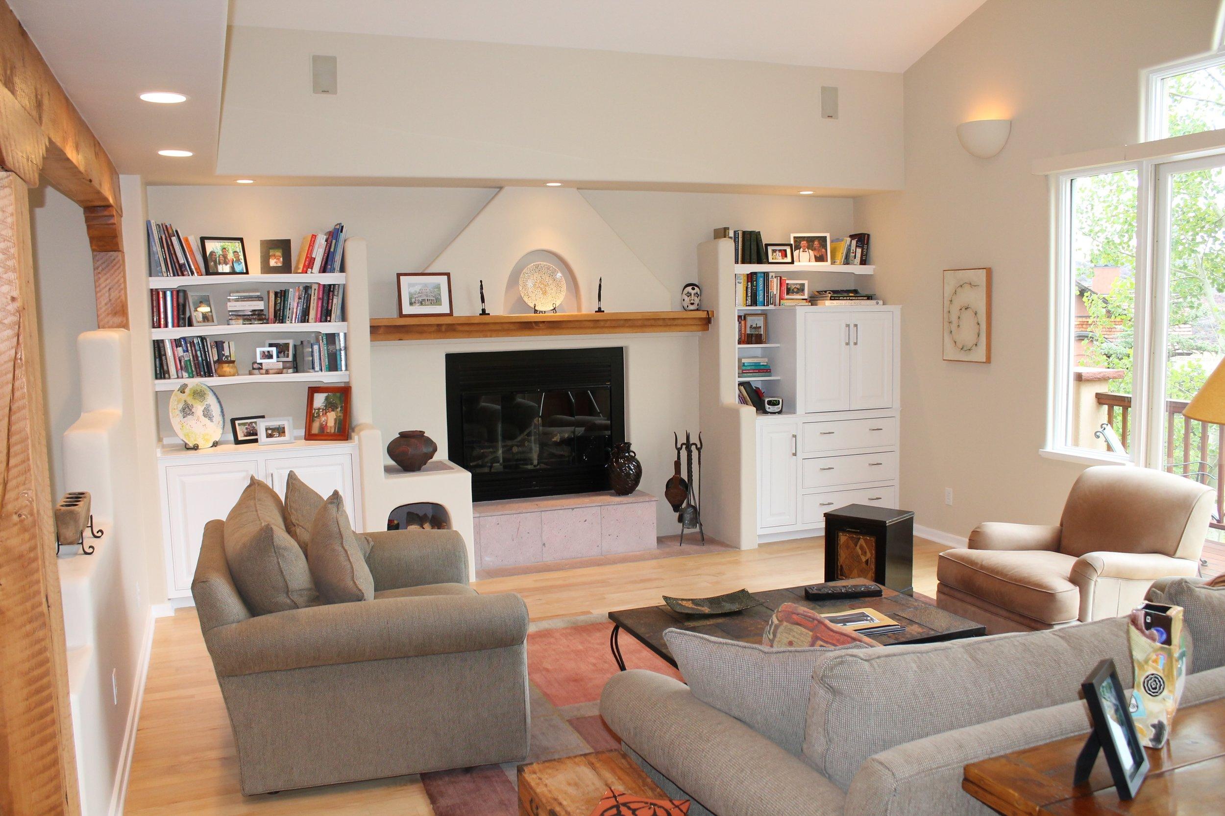mountain modern living room before