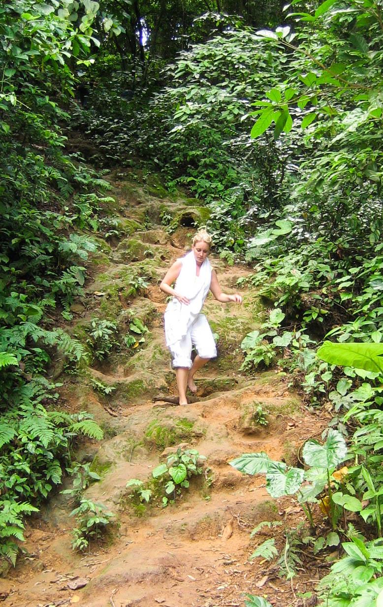 Hiking waterfalls outside of Luang Prabang, Laos