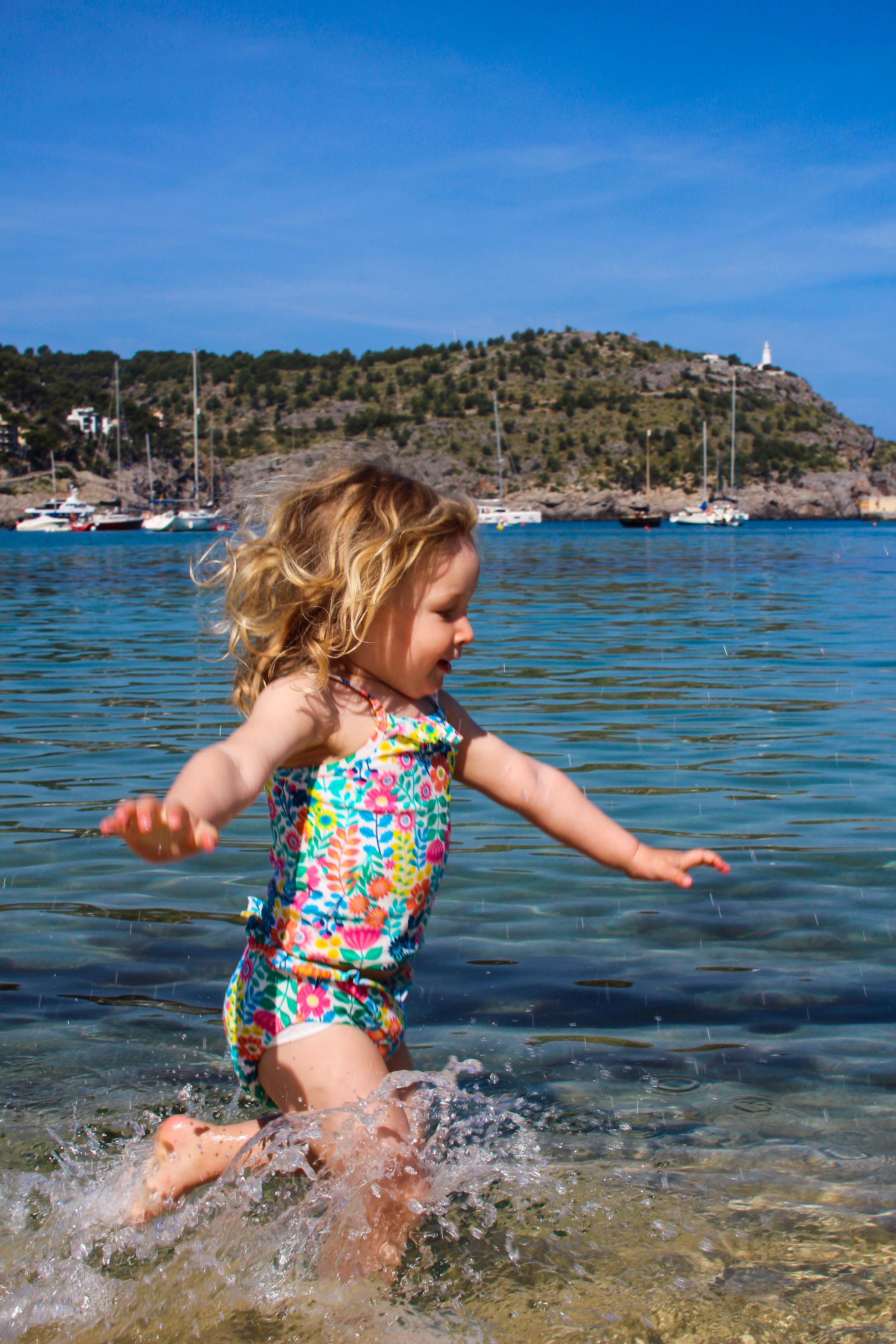 Frolicking in the crystal clear waters of Mallorca