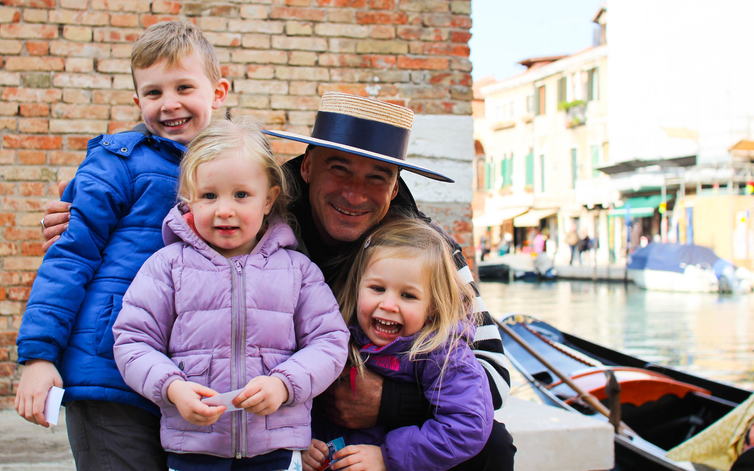 With our gondolier, the fantastic Luca
