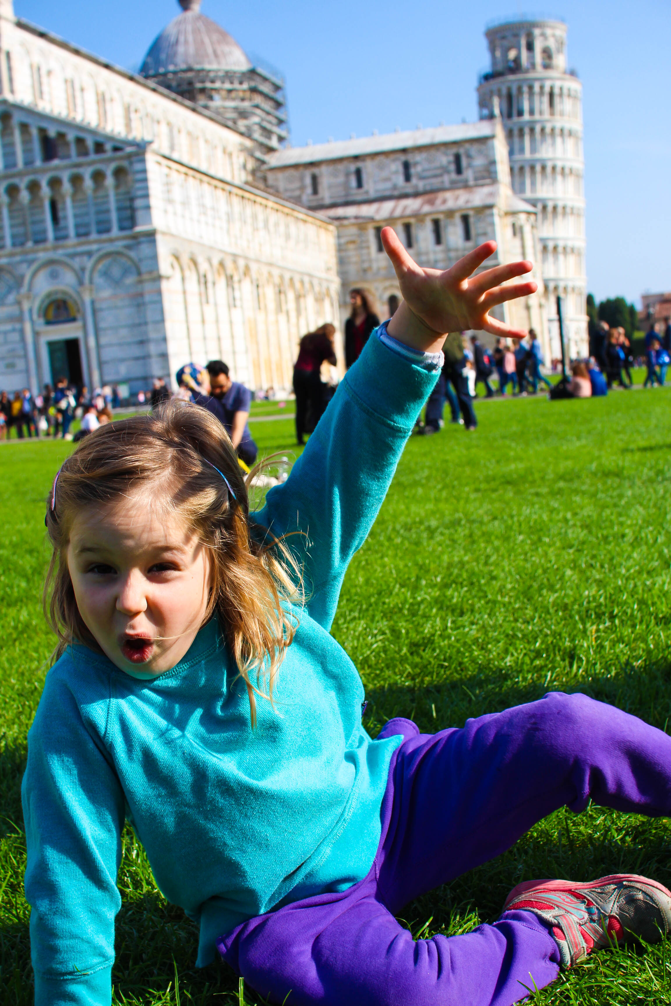 Finding some great green space to play in Pisa
