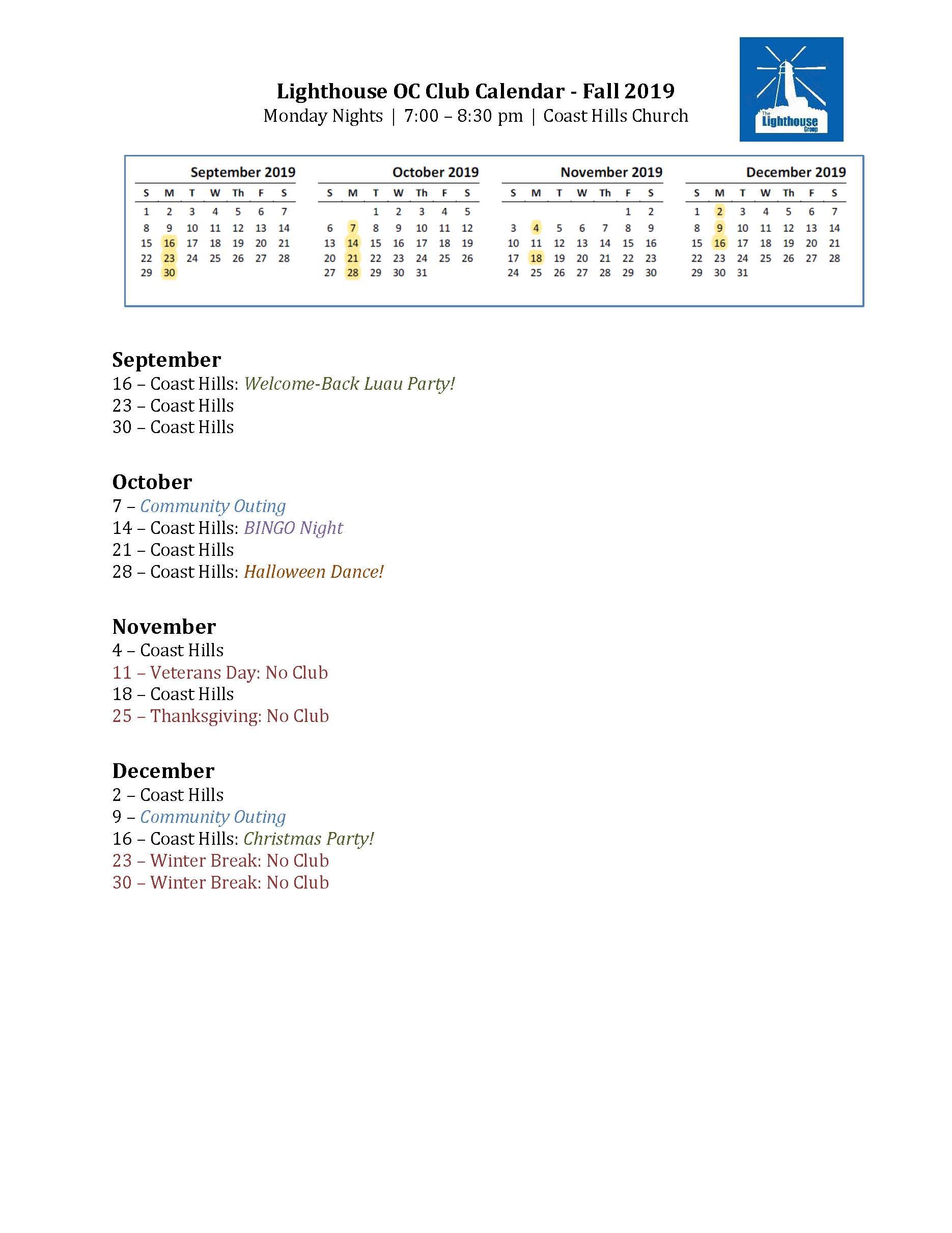 Lighthouse OC Club Calendar - Fall 2019.jpg