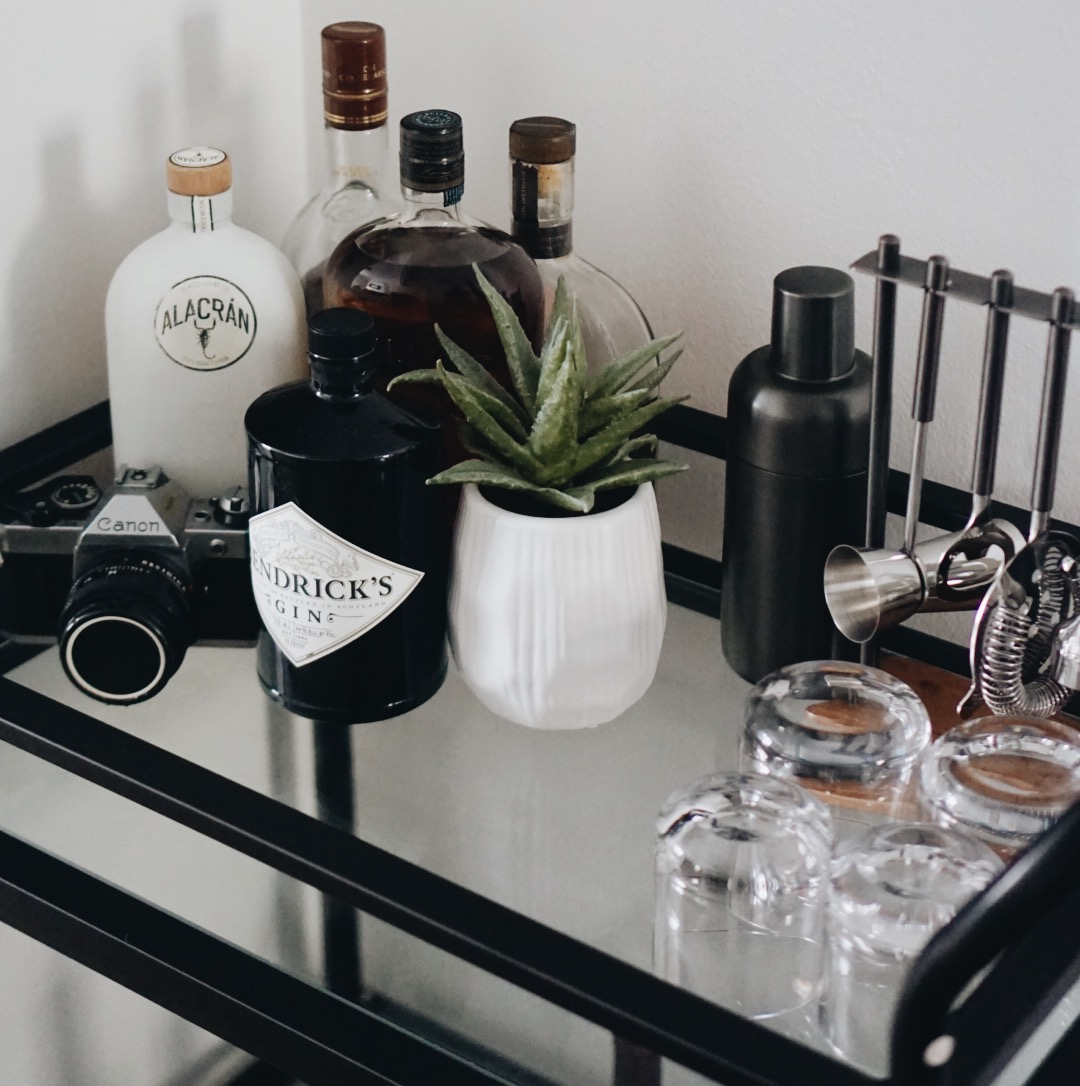 Decorating a NYC Apartment: Bar Cart — The Outline