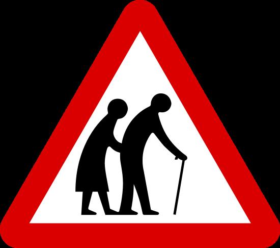 Elderly Roadsign