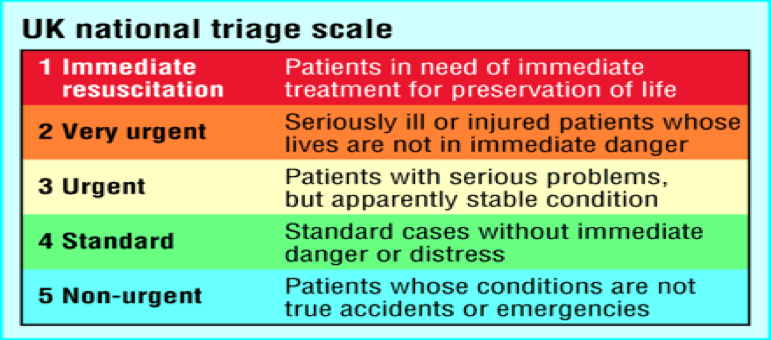 National Triage Scale