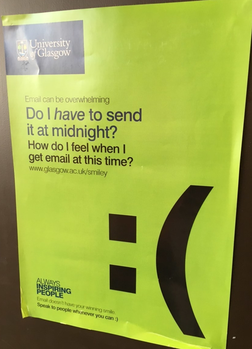 A poster spotted at Glasgow University.
