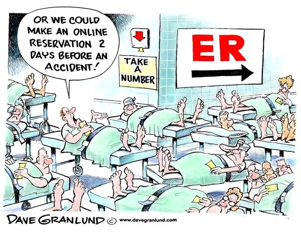 ED Overcrowding Cartoon