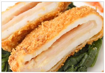 豚肉のチーズとハムのはさみ揚げ コルドンブルー