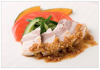 メキシカンポークのネギと生姜煮 香味ソース