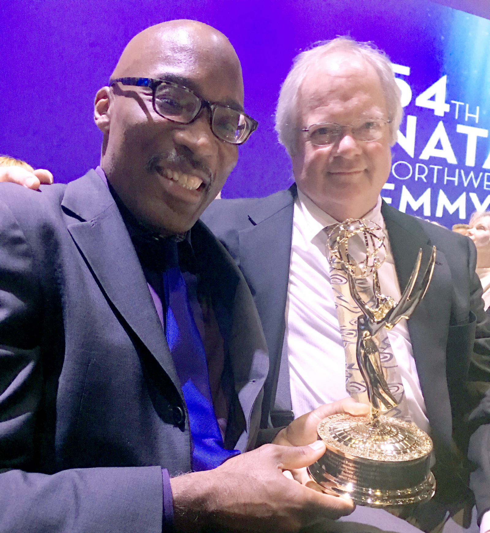 Darrell Grant and Eric Cain at the 54th Annual Northwest Regional Emmy Awards.
