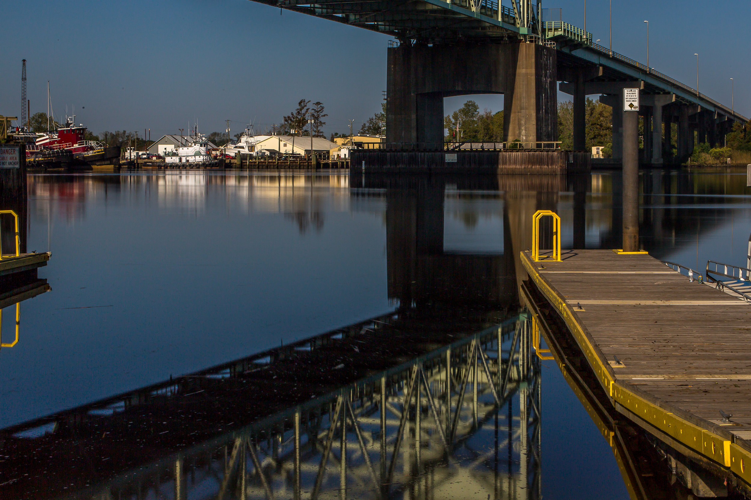 Cape Fear Memorial Bridge Reflection