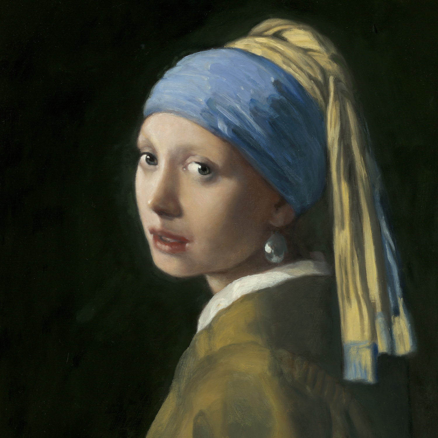"""""""Girl with the Pearl Earring""""  Collection of the William Larkin Family"""