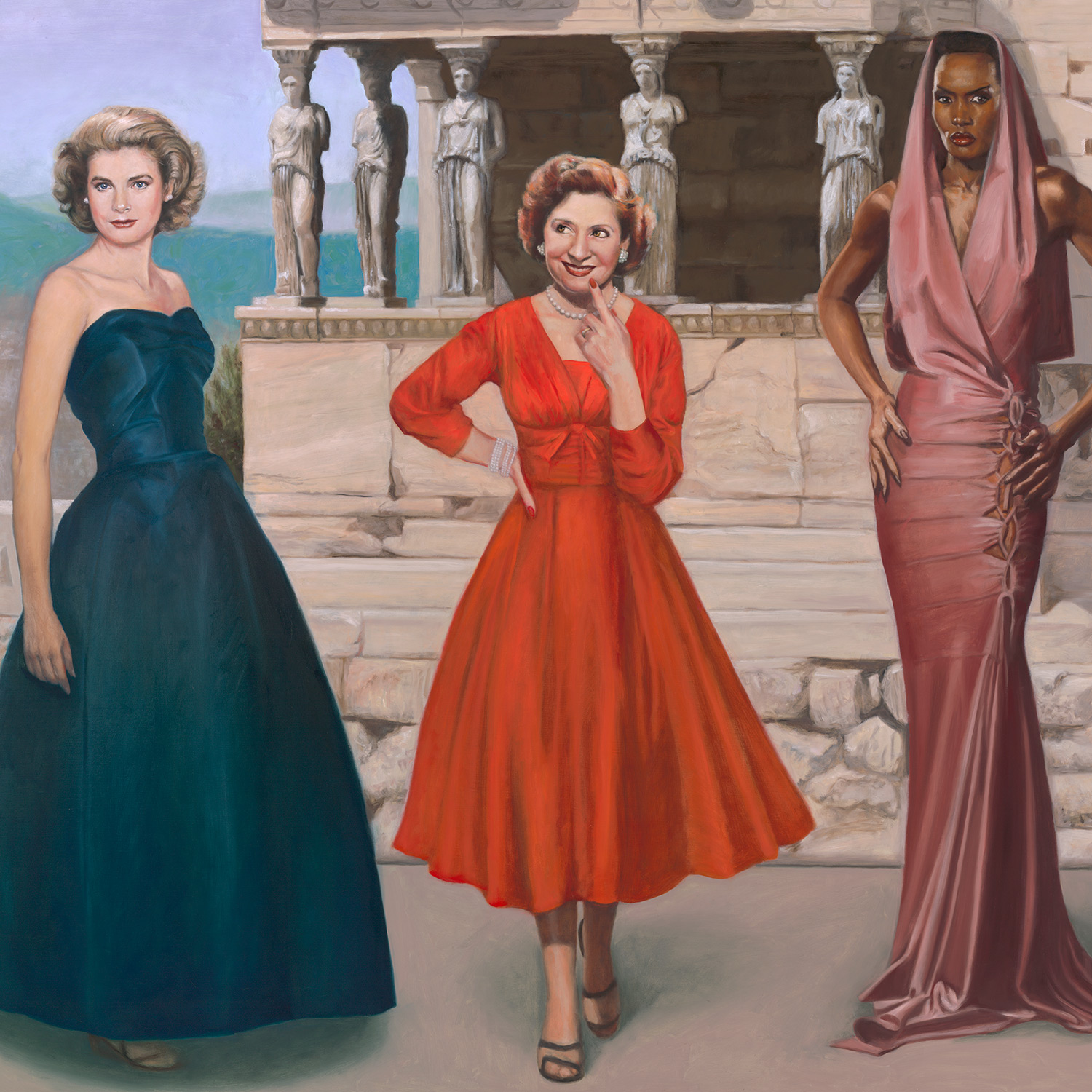 """""""The Three Graces""""  60x72"""" oil on linen,  Available"""
