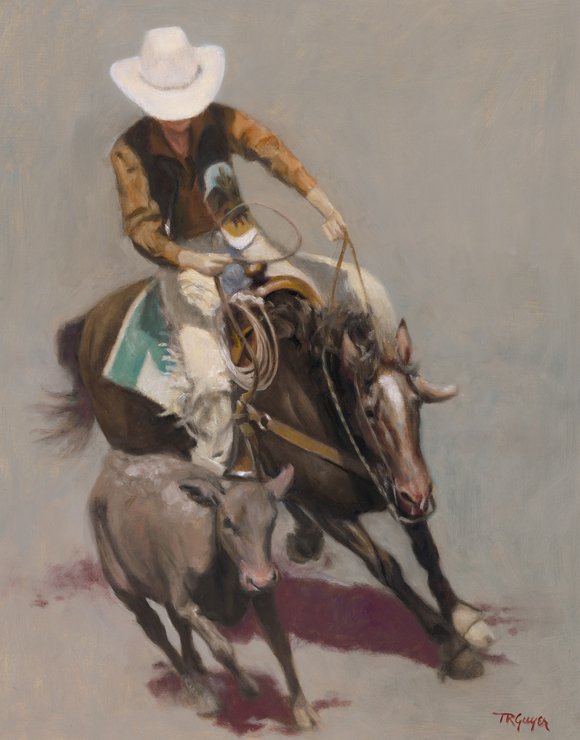 """Roper"" Salinas Rodeo"" 20x16"" oil on linen"