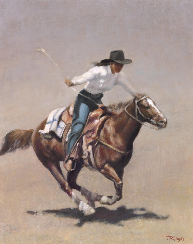 """Barrel Racer, Salinas Rodeo"" 20x16"" oil on linen"