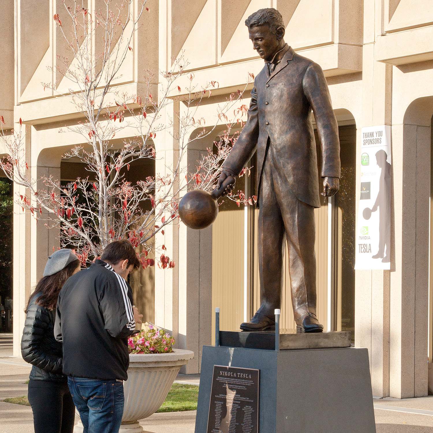 A    Statue of Nikola Tesla in the Silicon Valley , Collection of Northern Imagination. Funded by KickStarter backers.