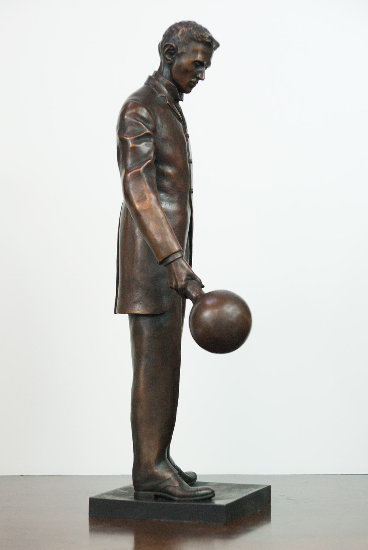"18"" Bronze Replica of ""A Statue of Nikola Tesla in the Silicon Valley"""