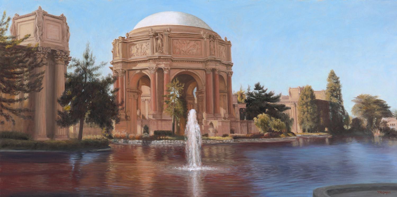 """ Palace of Fine Arts, Lagoon View ""   20x40"" oil on linen"