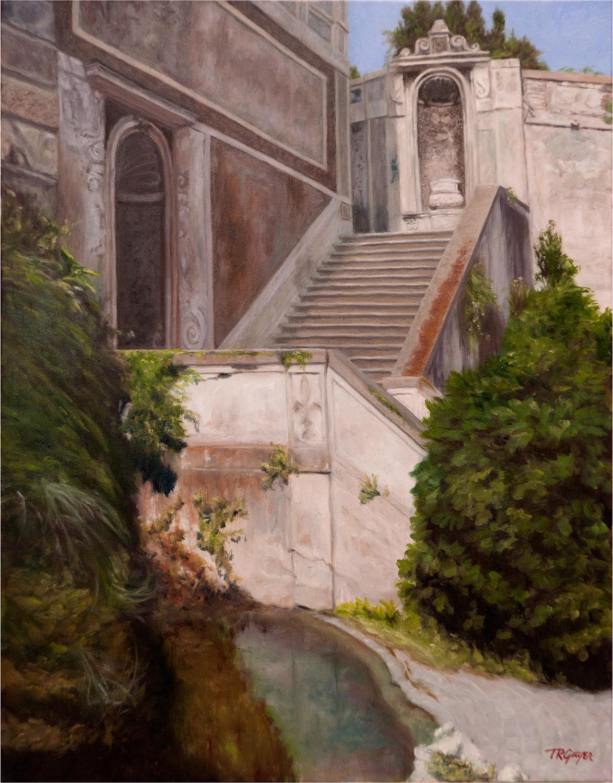 """"""" Ancient Roman Stairway """"   20x16"""" oil on linen"""