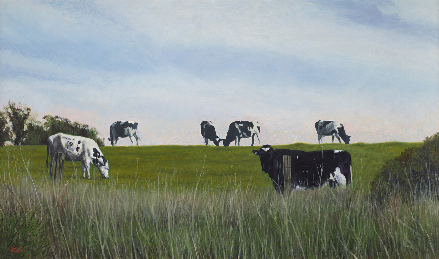"""Highline Grazing"" 24x40"" oil on linen"