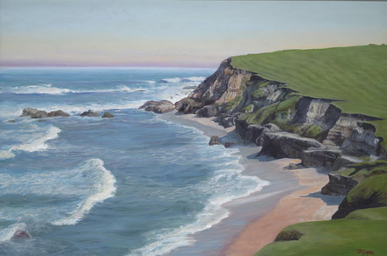 """""""Coastline at Daybreak"""" 24x36"""" oil on linen"""