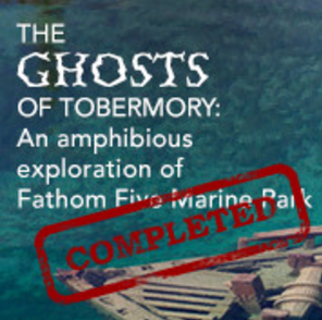 The Ghosts of Tobermory: an amphibious exploration of Fathom Five Marine Park   [ Sept. 23-27, 2015 ]  The town of Tobermory, located on the northern tip of the Bruce Peninsula, is steeped in history - both human and natural. Long home to first nations inhabitants, it is situated on a dramatically sculpted landscape formed through the erosion of the 400+ million year old carbonate rock (limestone and dolostone primarily) which forms the 900+ km long Niagara Escarpment (a UNESCO biosphere reserve).